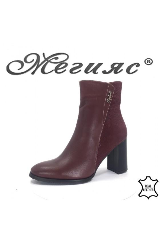 619 Lady boots bordo leather