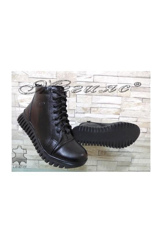 858 Women boots black/wine leather