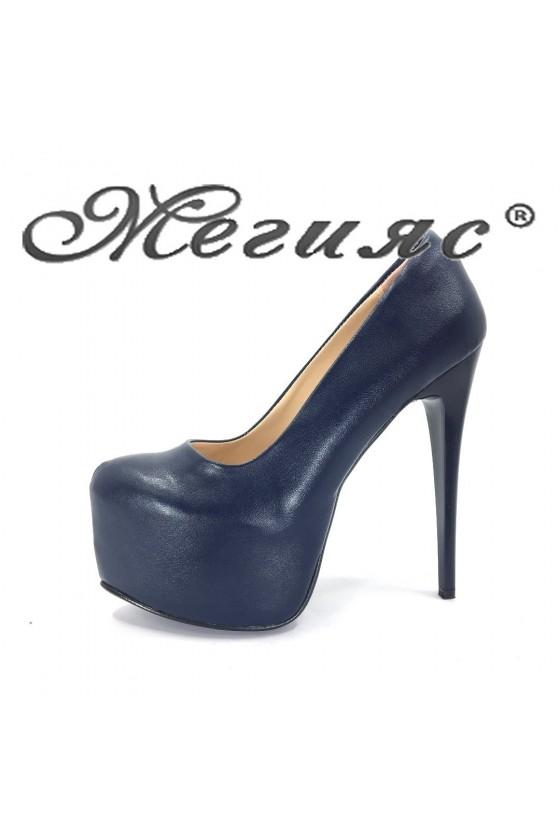 50 Ladies high heel shoes elegant  blue