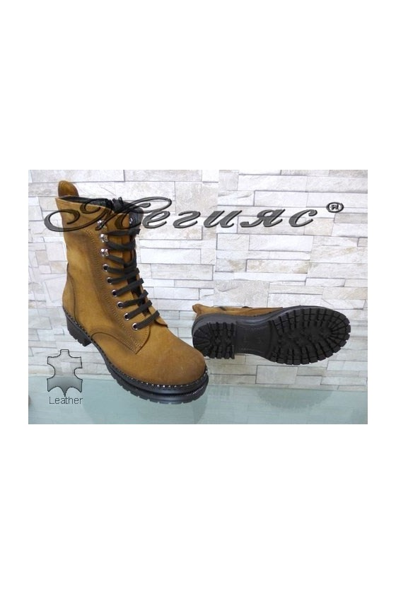 914 Women boots black/brown leather