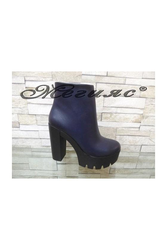 2243 Lady boots wine/blue/camel pu