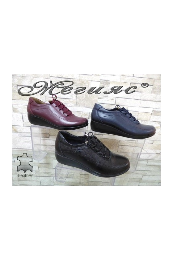1100 Lady boots black/blue/wine leather