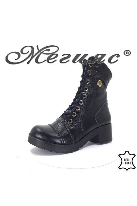 720  Lady boots black leather