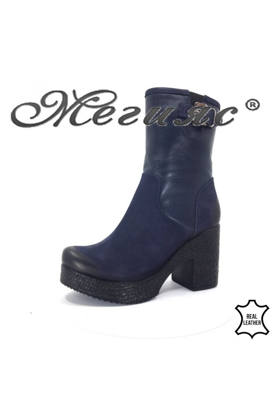 715-655 Lady boots blуе leather
