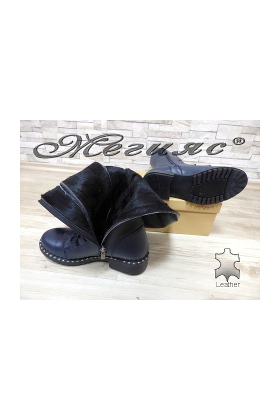 602-301 Lady boots blue leather