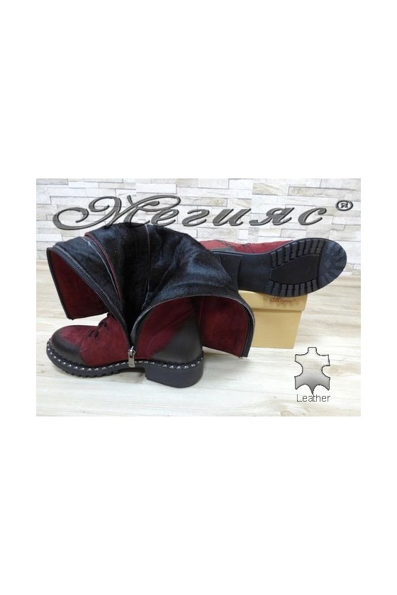 602-314 Lady boots wine leather