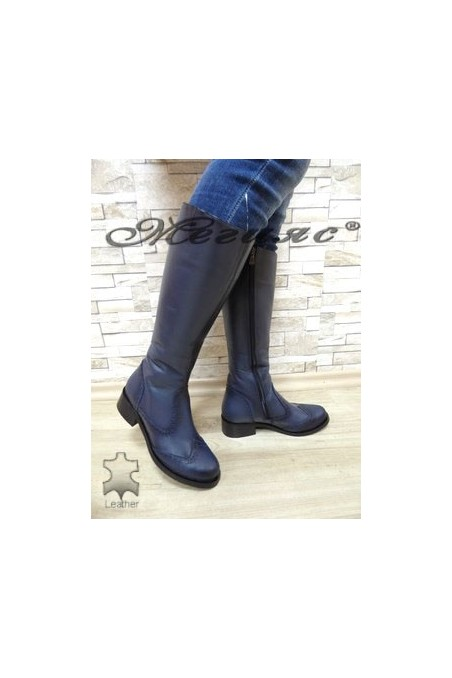 2009 XXL Lady boots blue leather