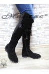 623-07-01 Дамски ботуши черни от естествен велур