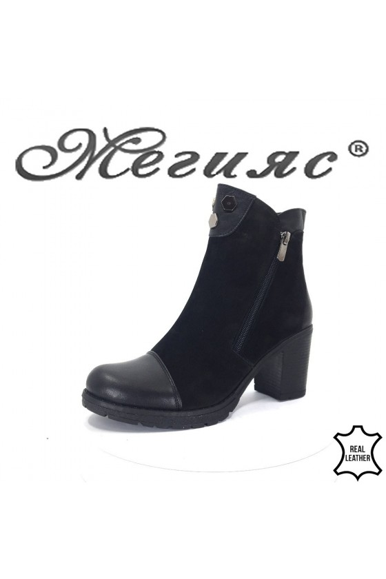 904-370  Lady boots black leather