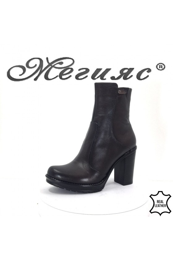 911-5  Lady boots black leather