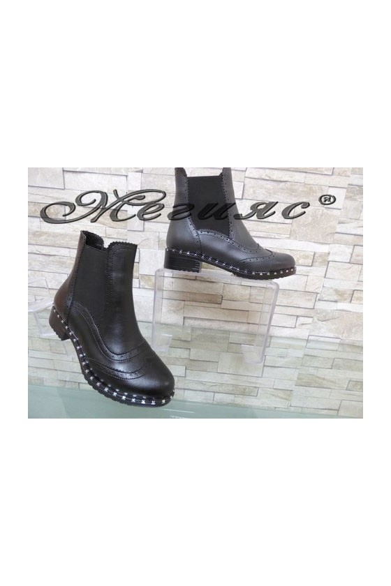 210 Women boots black/grey pu