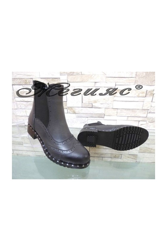 210 Women boots black/grey pu