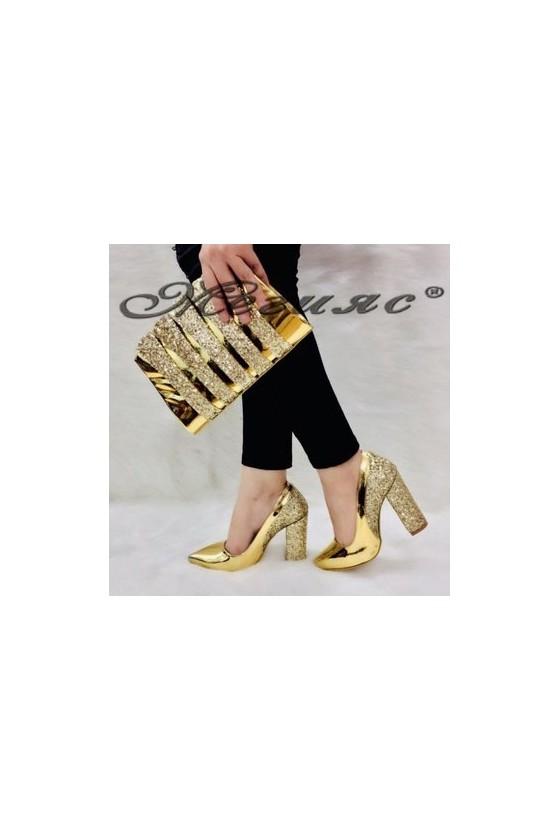 00543 Комплект дамски елегантни обувки с чанта