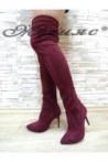 1006 Дамски ботуши тип чизми от велур