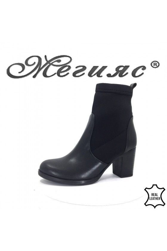 911 Lady boots black leather