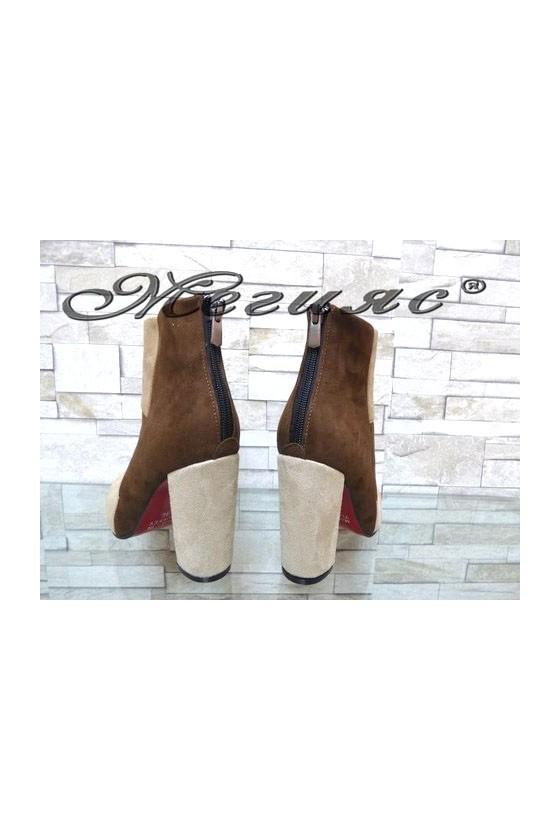4462 Women elegant boots beige/brown suede