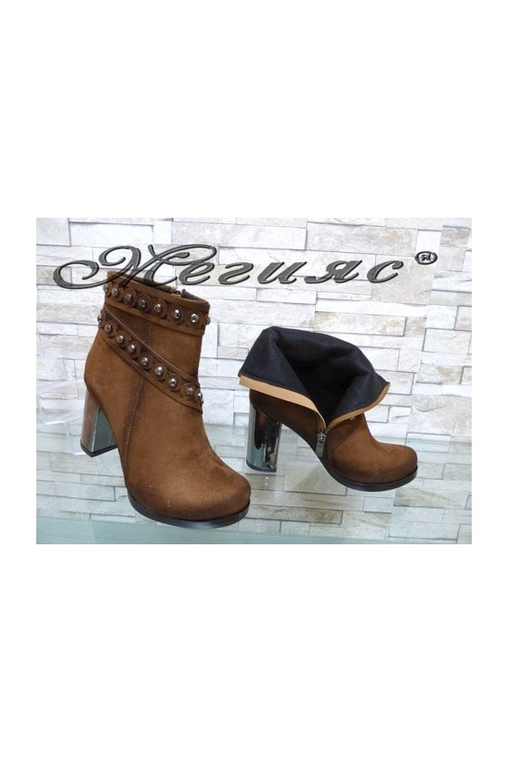 4463 Lady elegant boots brown suede