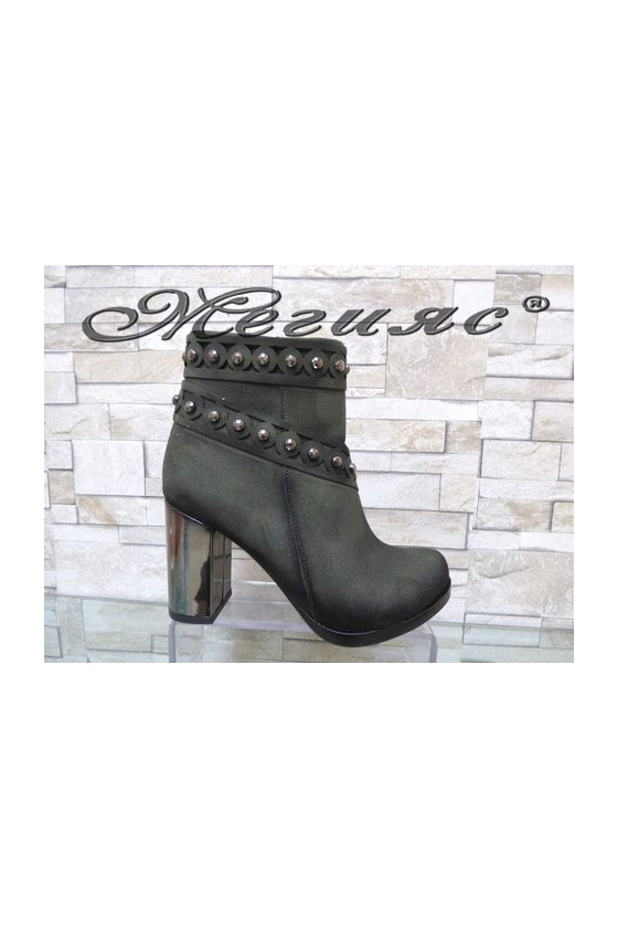 4463 Lady elegant boots green suede
