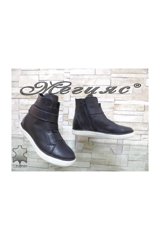 1426 Women sport boots blue leather