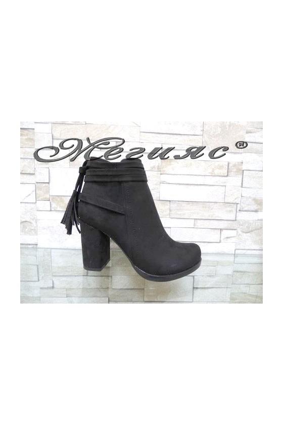4461 Women elegant boots black suede