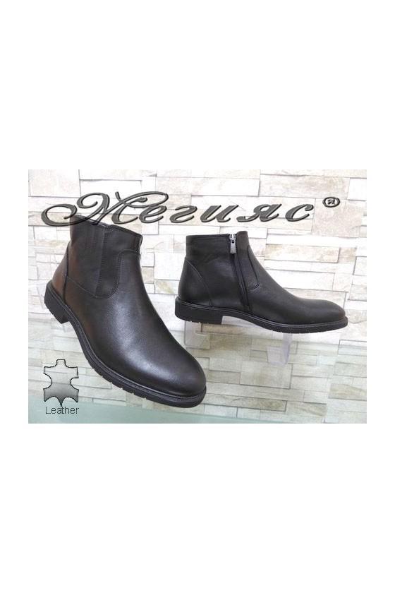 19905 Men's boots black leather