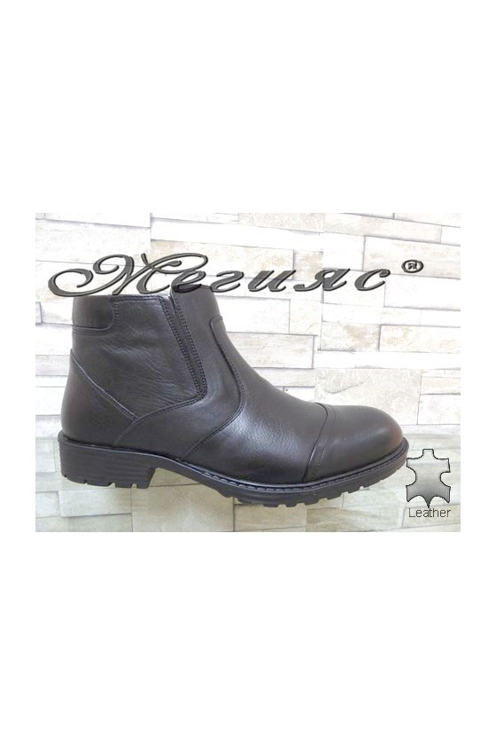 7254 Men's boots black leather