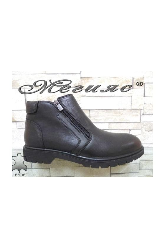 579-040 Men's boots black leather