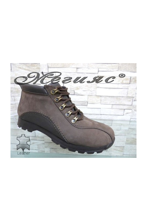 611-504 Men's boots brown leather