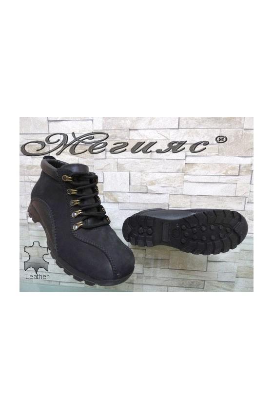611-502 Men's boots black leather