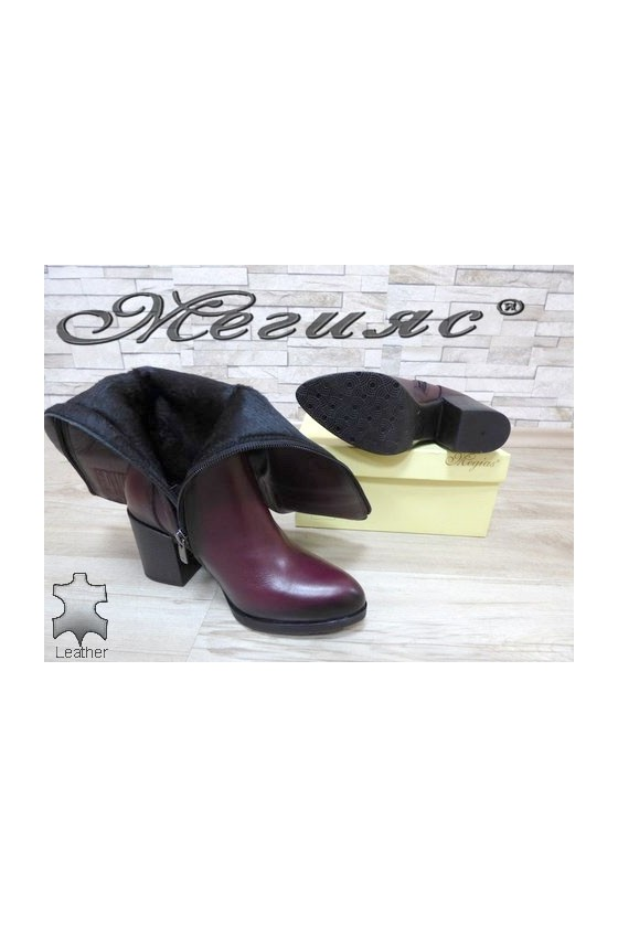 713  Women boots wine leather