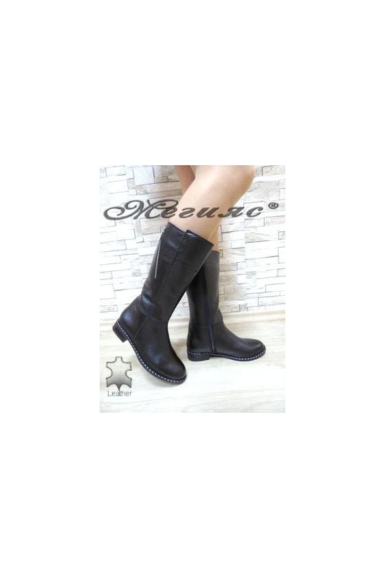 903 XXL Women boots black leather