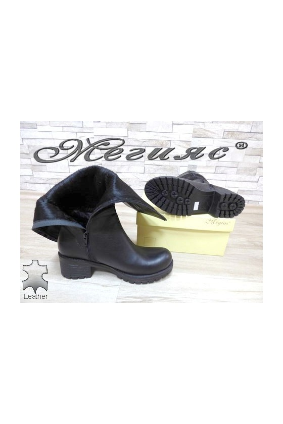 807-410 Women boots black leather