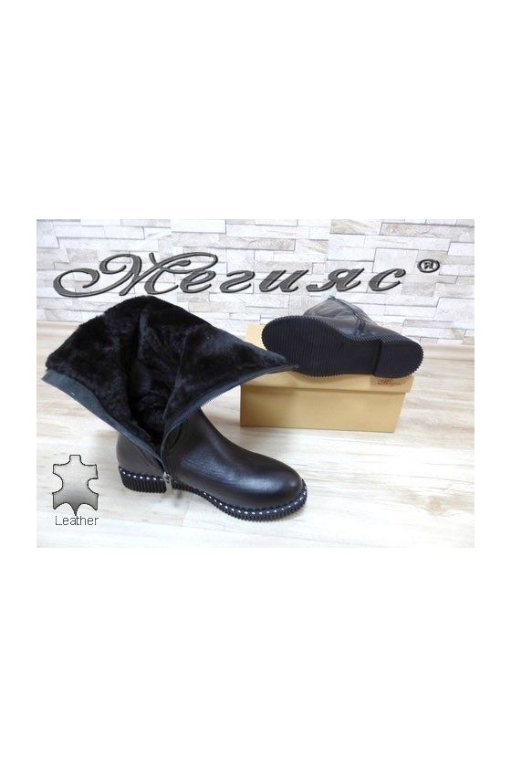 239-7 Lady boots black leather