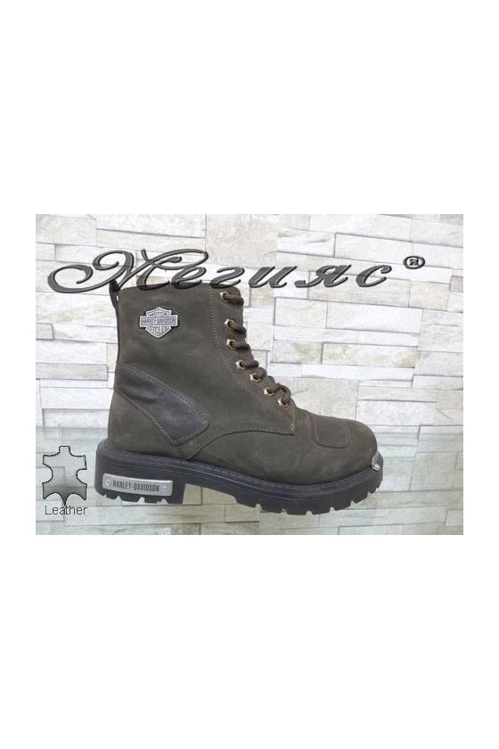 01-K Men's boots brown suede