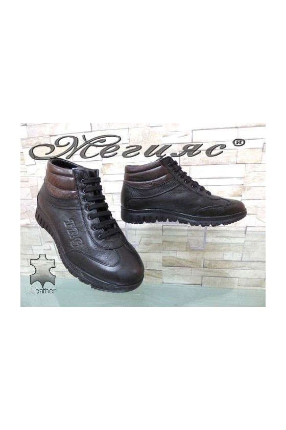 2000 Men's boots black leather