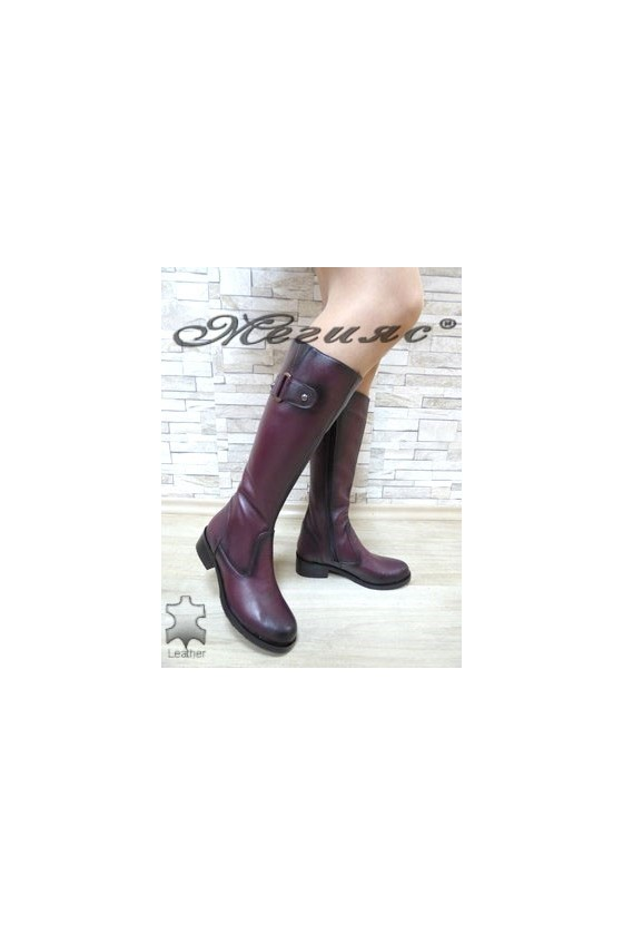 2010 Women boots wine leather