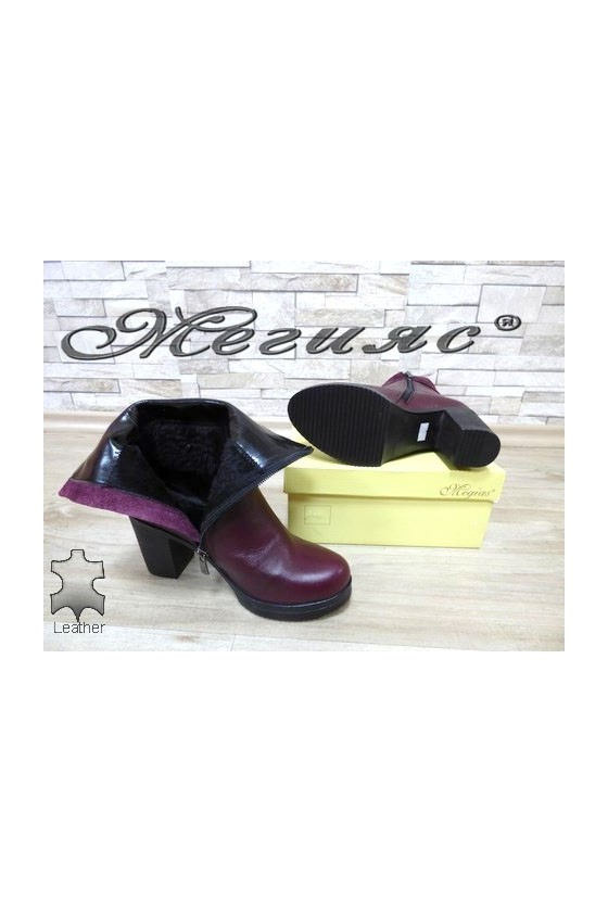 451 Women boots wine leather