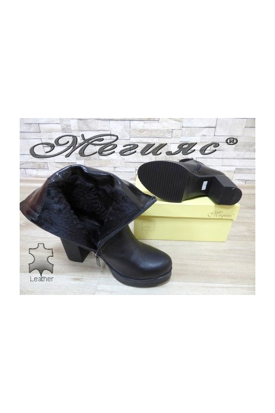 451 Lady boots black leather