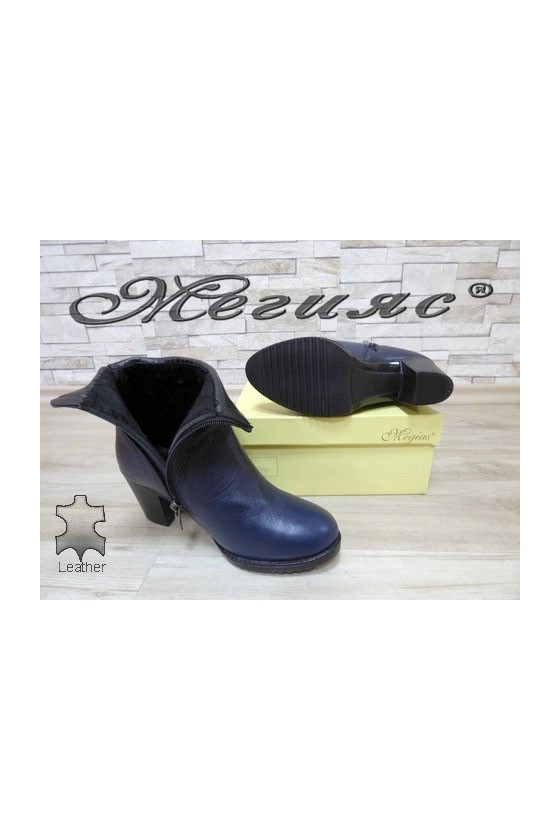 1015-03 Women boots blue leather