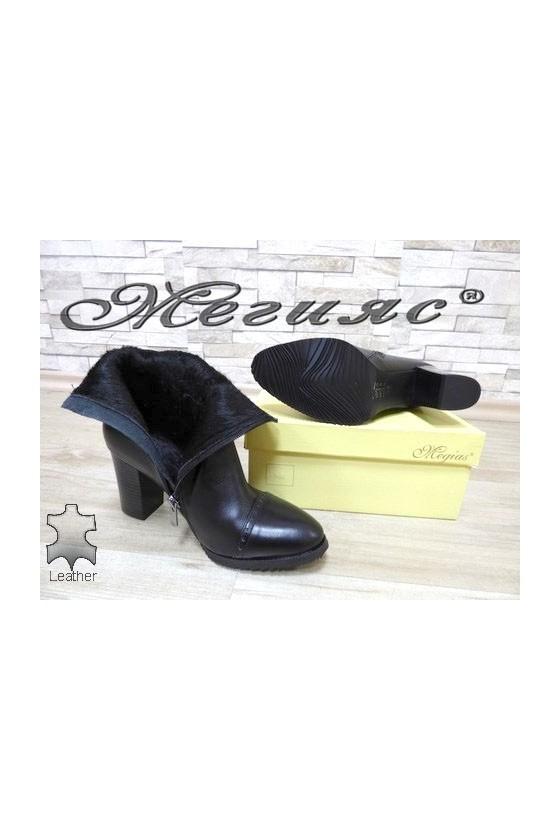 643-0130 Lady elegant boots black leather