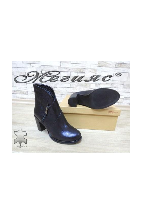 300-35 Lady elegant boots blue leather