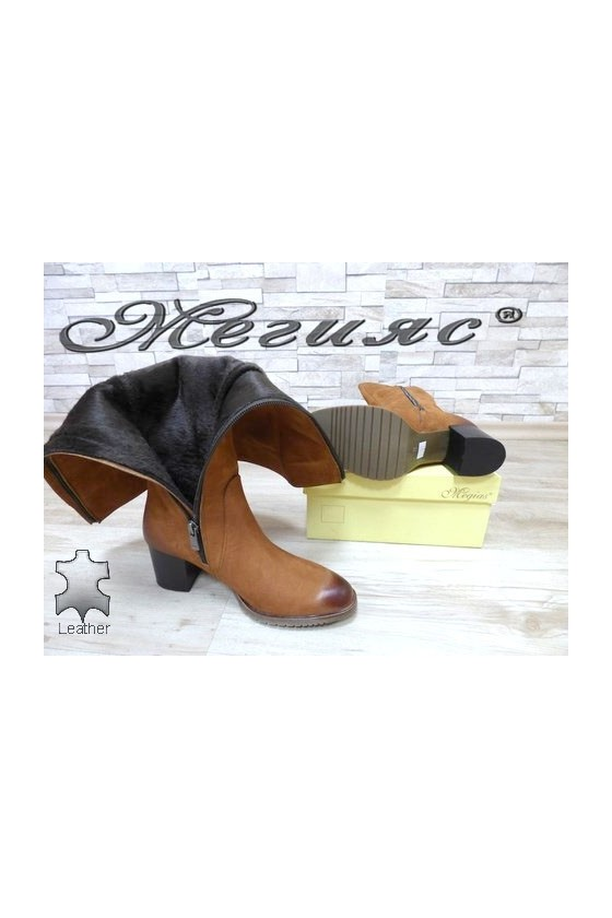527 Lady elegant boots brown suede
