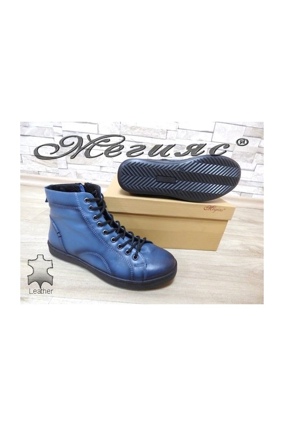 501 Lady sport boots blue leather