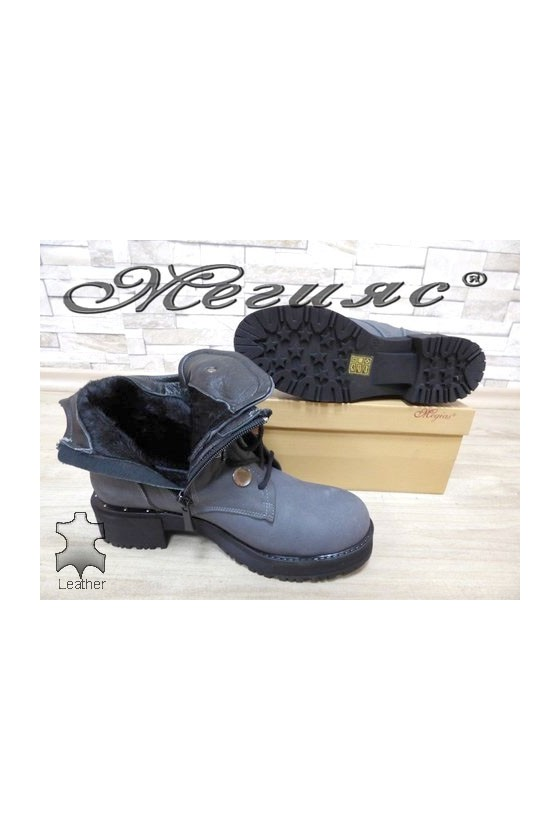36 Women boots grey leather
