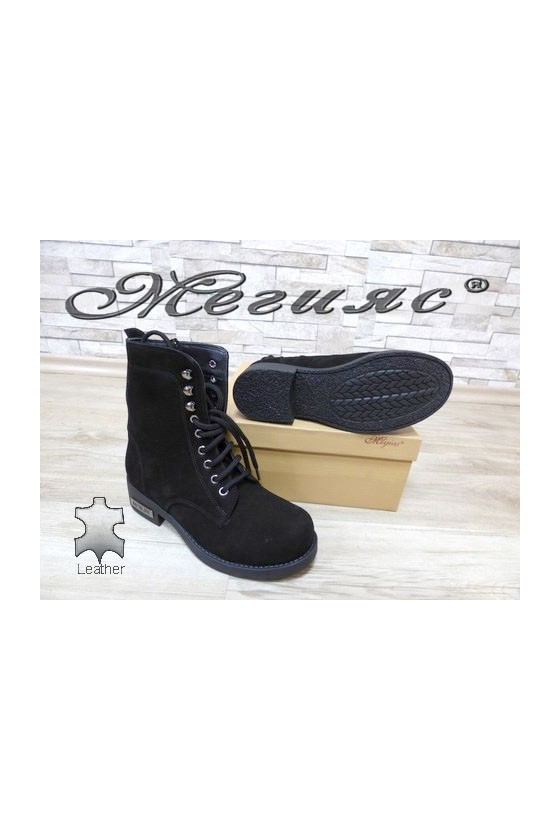 901 Women boots black suede