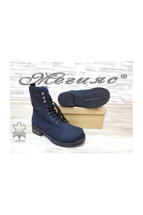 901 Women boots blue suede