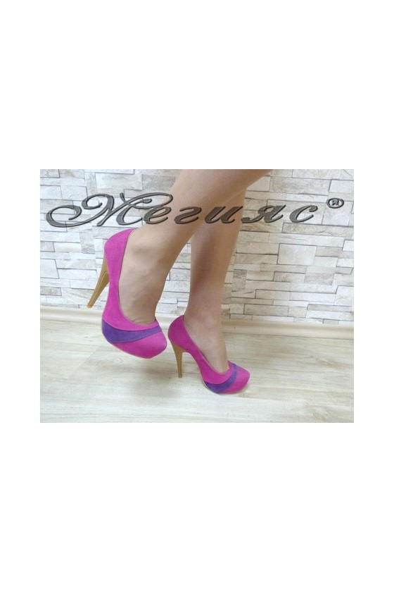 MAGGIE 13-3361 Дамски елегантни обувки циклама от велур