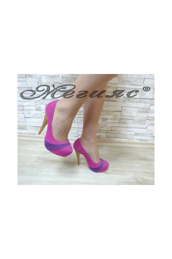 MAGGIE 13-3361 Дамски елегантни обувки черни от велур