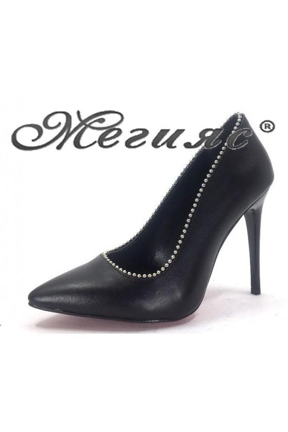 5011 Дамски обувки черни от еко кожа