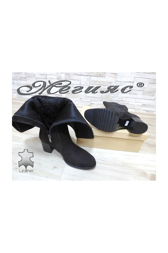 550 Lady boots black leather